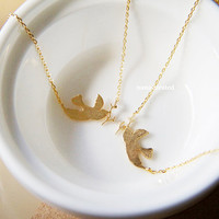 Dove With Branch Charm Necklace, Charm Necklace, Hipster Necklace, Dainty Jewelry, Tiny Arrow Necklace, Gift Ideas, Holiday Gifts