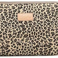 Best Christmas Gift Zonman Bohemian Style Canvas Fabric Laptop Notebook Computer MacBook MacBook Pro MacBook Air Sleeve Case Bag Cover Macbook Sleeve Briefcase Carry Case(Brown Leopard)