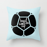 Brasil World Cup 2014 - Poster n°5 Throw Pillow by Lucie