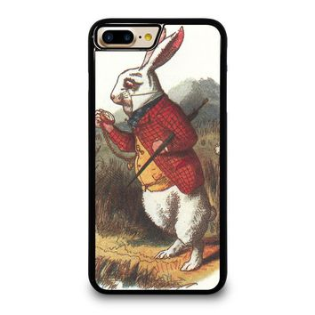 WHITE RABBIT ALICE IN WONDERLAND Disney iPhone 4/4S 5/5S/SE 5C 6/6S 7 8 Plus X Case