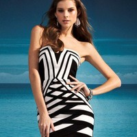 Lipsy Contrast Taping Bandeau Dress
