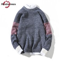 2017 Autumn Winter New Men's Pullover Sweaters knitted Fashion Christmas Sweater Men pull homme Male Sweater sweter hombre 5XL