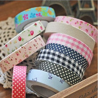Pattern Washi Tape DIY Decorative Sticky Stationery Adhesive Sticker