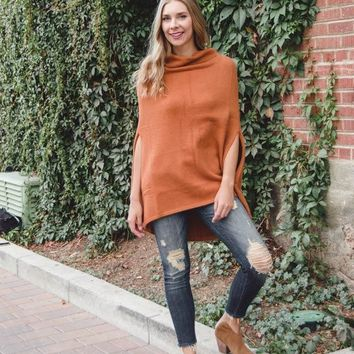 Take Cover Poncho Sweater