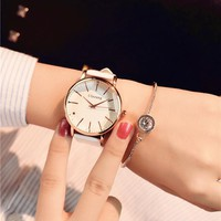 Minimalism Casual Women Watches Simple Stylish White Quartz Wristwatch for Lady Luxury Business Dress Watch Woman Business