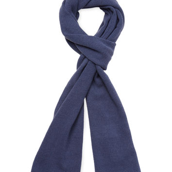 "Portolano Men's Long Cashmere Scarf, 71"" x 10"" - Dark Blue/Navy"