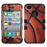 Amazon.com: Hybrid Basketball-Sports/ Black Total Defense Faceplate Hard Plastic Protector Snap-On Cover Case For Apple iPhone 4: Cell Phones & Accessories