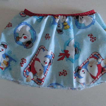 Frosty The Snowman Baby Girl Christmas Party Skirt