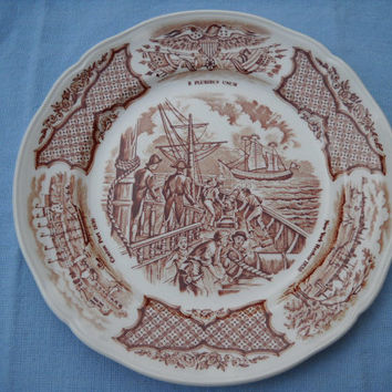Alfred Meakin Staffordshire Fair Winds Chinese Plate by Staffordshire - Vintage Decorative Plate