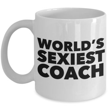 World's Sexiest Coach Thank You Mug Gift Ceramic Coffee Cup Volleyball Softball Basketball