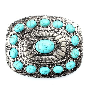 Turquoise belt buckle western buckles for ladies …