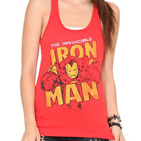 Marvel Universe Invincible Iron Man Girls Tank Top | Hot Topic