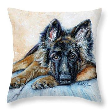 German Shepherd - Throw Pillow