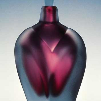Overlay Perfume by Jonathan Winfisky: Art Glass Perfume Bottle | Artful Home