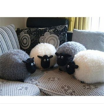 New Cartoon Sheep Lamb Doll Plush Toys Kids Children's Baby Birthday Lovely Soft Fluffy Stuffed Toys Brinquedos Xmas For Cushion