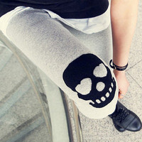 Skull Slim warm leggings DDK0004 from lovely girls