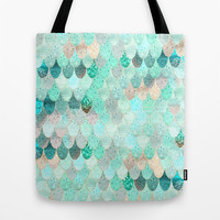 SUMMER MERMAID Tote Bag by Monika Strigel