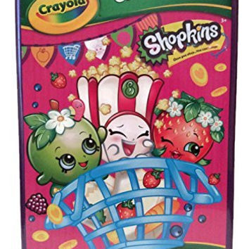 Crayola Shopkins Giant 16 Page Coloring Activity Book