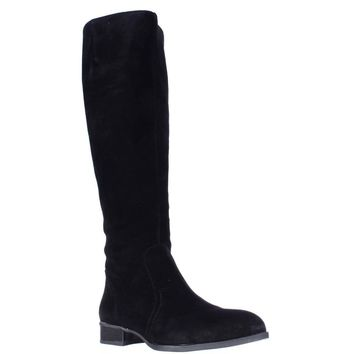 Nine West Nicolah Tall Riding Boots, Black Suede, 9.5 US