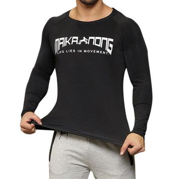 Mens Bodybuilding Quick-drying Fitness T-shirt