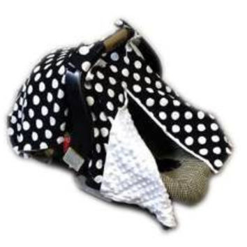 BayB Brand Car Seat Cover - Black Polka Dot