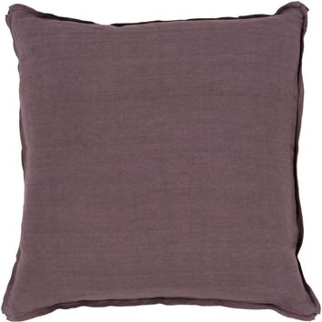 Solid Throw Pillow Purple