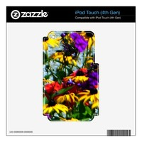 Picturesque Colorful Flowers Decal For iPod Touch 4G