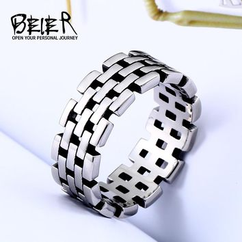 BEIER party supplies Motorcycle Link Chain Rings Punk Rock Mens Boys Ring Vintage geometry Jewelry Birthday Gifts BR8-511
