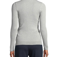 Courreges Montant Manches Ribbed Mock-Neck Sweater