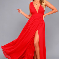 Heavenly Hues Red Maxi Dress