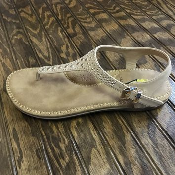 Natural Studded Sandal by Volatile