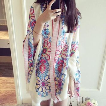 Scarf From India Hot Spring Summer Beach Brand poncho Loose Scarves Casual Ladies Ethnic Style Scarfs Head Sarong Wrap Shawl
