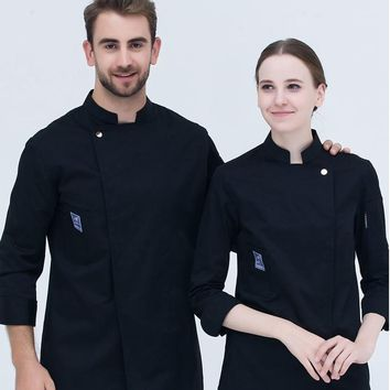 1pc Hotel Restaurant Chef wear long sleeved chief uniform cake pastry kitchen Chef Uniform Bakers coat Cake room work clothes