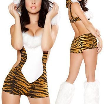 CREYUG3 Leopard Cosplay Anime Cosplay Apparel Holloween Costume [9211506948]