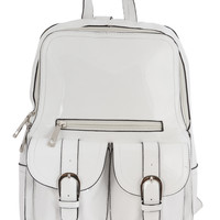 Vinyl Mini Backpack - White