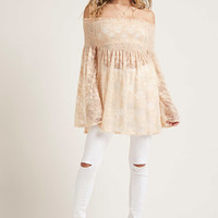 Smocked Lace Swing Top