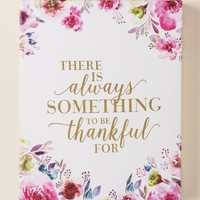 Always something to be thankful for canvas wall decor