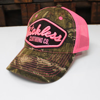 Luckless LLC | Atomic Trucker Hat (Pink / Mossy Oak®)
