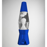 Neon Blue with White Lava LED Night Light Lava Lamp