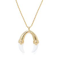 Kenneth Jay Lane Women's White Claw Pendant Necklace - White