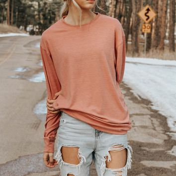 Sweetheart Crew Neck Pullover