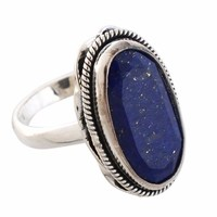 Arvino 925 Sterling Silver Ring With Lapis Gemstone