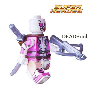 1PC Gwenpool Deadpool Minifigures Marvel X-Man Super Heroes Building Blocks Sets Bricks Toys Figures For Kids DIY Toys Hobbies