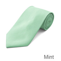 Mint Wedding Tie and Hanky Set