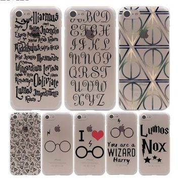 Harry Potter Movie Poster Hard Phone Cover Case for iphone 5 6 7 8 X