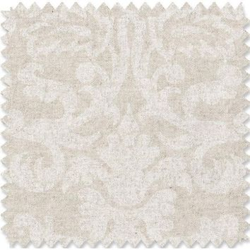 Linen Damask Fabric By The Yard | 100% Cotton