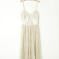 Free People Embellished Tulle Slip