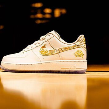 hcxx NIKE Air Force 1 Chinese New Year White For Women Men Running Sport Casual Shoes Sneakers