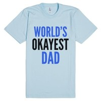 World's Okayest Dad T-shirt (idb010637)-Unisex Light Blue T-Shirt