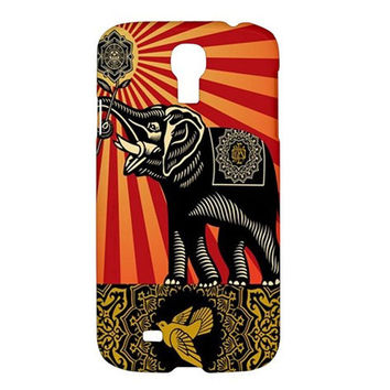Shepard Fairey OBEY Elephant Art Samsung Galaxy S4 IV I9500 Hard Case Cover